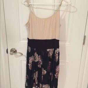 BAILEY 44 B44 Floral Spaghetti Strap Dress L
